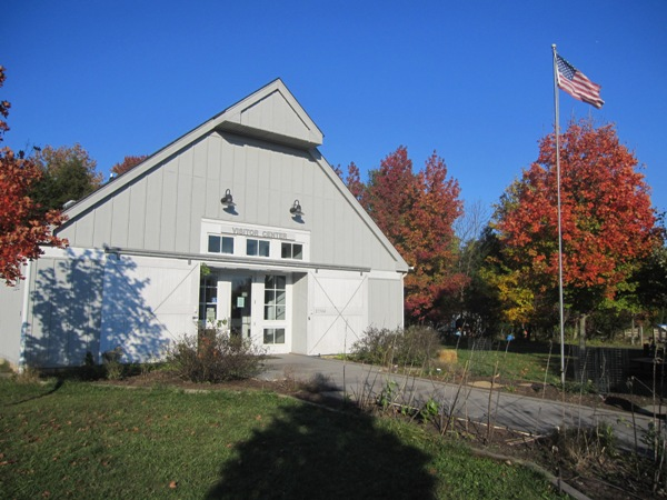 Claude Moore Park Visitor Center in the Fall