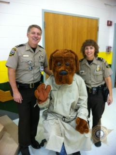McGruff with Police Officers