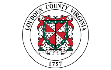 Red and green Loudoun County seal on a white background.