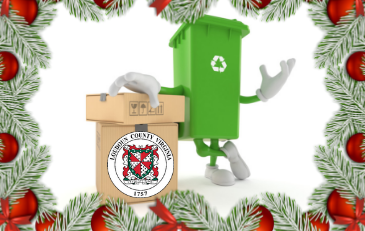 Image of holiday recycling graphic