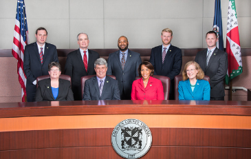 Board of Supervisors at dais