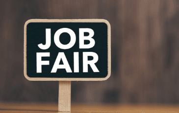 Image of a Job Fair Sign