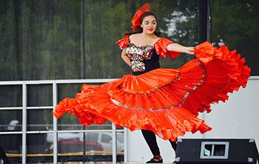 image of Latino festival dancer