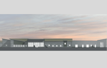 Image of rendering of new Animal Services facility