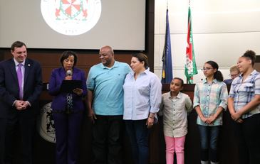 Photo of Board of Supervisors Ceremony Honoring 2019 Foster Parents of the Year
