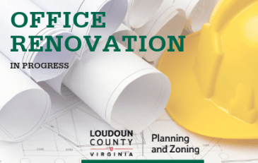 Image of Office Renovation Sign for the Department of Planning and Zoning