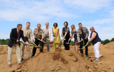 Photo of groundbreaking ceremony for new Animal Services facility in Loudoun County