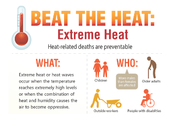 Image of heat-related infographic
