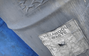 Image of hazardous waste container