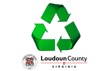 Image of recycle symbol with Loudoun County wordmark