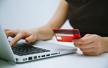 image of laptop and credit card