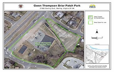 Construction Area map Gwen Thompson Briar Patch Park