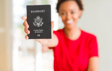 Image of women with passport