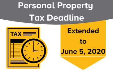 Image of Personal Property Tax Deadline Extended Graphic