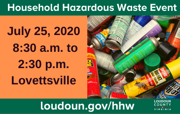 Image of July Household Hazardous Waste Event slide