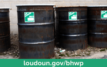 Photograph of drums of hazardous waste