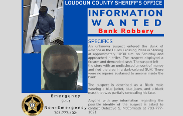 Image of Information Wanted in Bank Robbery Poster