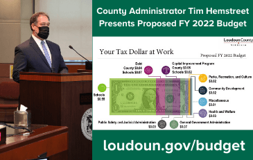 Link to information about the proposed FY 2022 Loudoun County budget
