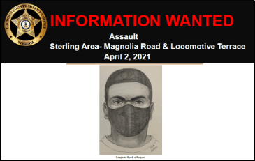 Image of composite sketch of assault suspect