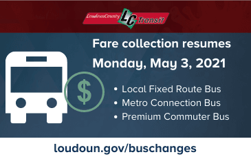 News Flash LC Transit Fares Resume May 2021