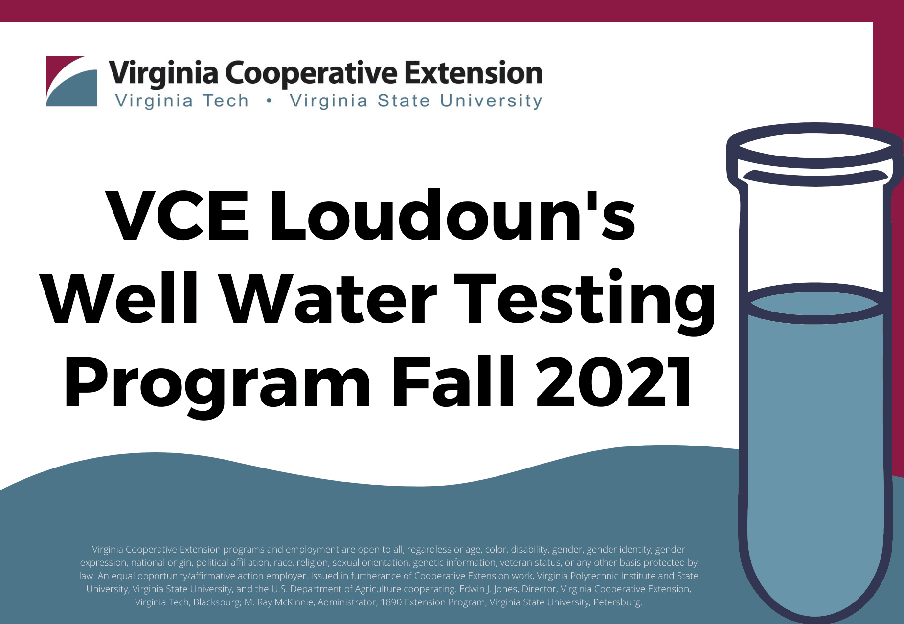 Well Water Testing Program Fall 2021